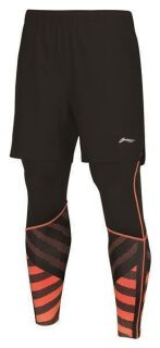 Li-Ning T-Shirt Leg Warmer Shorts Orange M