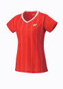 Womens Cap Sleeve Top Sunset Red